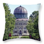 Union Collage New York Throw Pillow