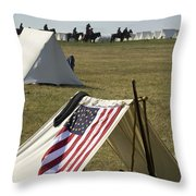Union Encampment Throw Pillow