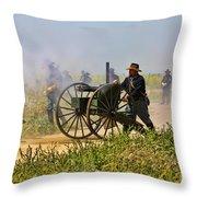 Union Gattling Gun Throw Pillow