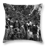 Union Gun Crew Throw Pillow