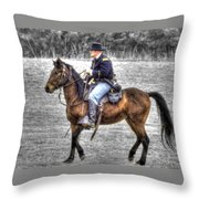 Union Horse Officer Throw Pillow