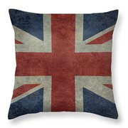 Union Jack 1 By 2 Version Throw Pillow