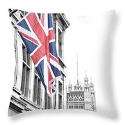 Union Jack Throw Pillow by Nancy Ingersoll