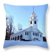 Union Meeting House In West Newbury Vermont Throw Pillow