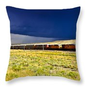 Union Pacific Racing A Thunder Storm Throw Pillow