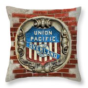 Union Pacific Crest Throw Pillow