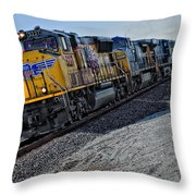 Union Pacific Southbound Throw Pillow