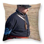 Union Soldier At Brooksville Raid Throw Pillow