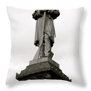 Union Soldier In Market Square Throw Pillow