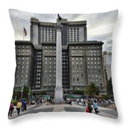 Union Square Courtyard Throw Pillow