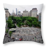 Union Square, N.y.c Throw Pillow