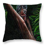 Union Squirrel Throw Pillow