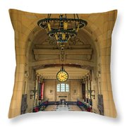 Union Station Chandelier Throw Pillow