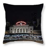 Union Station Denver Colorado 2 Throw Pillow