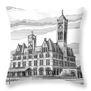 Union Station In Nashville Tn Throw Pillow