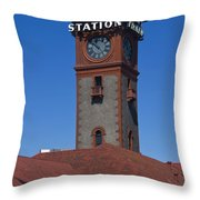 Union Station In Portland Oregon Throw Pillow