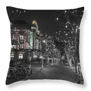 Union Station In The Winter Throw Pillow