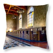 Union Station Interior- Los Angeles 2 Throw Pillow