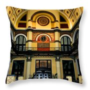 Union Station Lobby Larger Throw Pillow