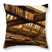 Union Station Roof Beams Throw Pillow