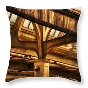 Union Station Roof Structure Throw Pillow