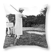 Union Suit Golfer Throw Pillow