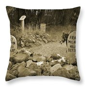 Unique Cemetery Image Throw Pillow