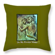 Unique Mothers Day Card Throw Pillow