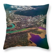 Unique Overview. Rainbow Earth Throw Pillow by Jenny Rainbow