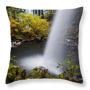 Unique View Of Ponytail Falls Throw Pillow