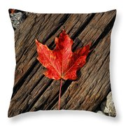 Uniquely Red Throw Pillow
