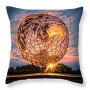 Unisphere At Sunset Throw Pillow