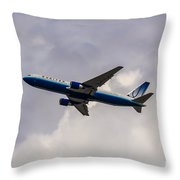 United Airlines Boeing 767 Throw Pillow
