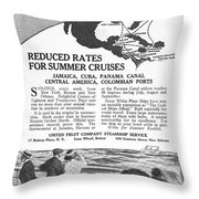 United Fruit Company, 1922 Throw Pillow
