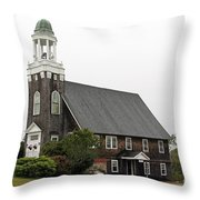 United Methodist Church New Harbor Maine Throw Pillow