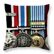 United Nations Peacekeeping Korean War Nato Medals Throw Pillow