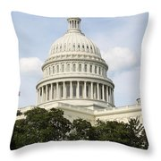 United State Capitol Dome Washington Dc Throw Pillow