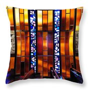 United States Air Force Academy Cadet Chapel Detail Throw Pillow