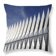 United States Airforce Academy Chapel Colorado Throw Pillow
