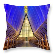 United States Airforce Academy Chapel Interior Throw Pillow