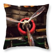 United States Airplane Museum Throw Pillow
