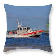 United States Coast Guard Throw Pillow by Kim Hojnacki