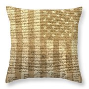United States Declaration Of Independence Throw Pillow