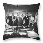 United States Industry Leaders Throw Pillow