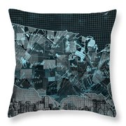 United States Map Collage 5 Throw Pillow