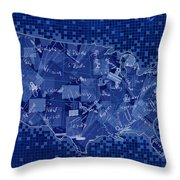 United States Map Collage 7 Throw Pillow