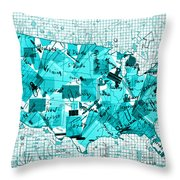 United States Map Collage 8 Throw Pillow