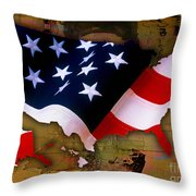 United States Map  Throw Pillow by Marvin Blaine