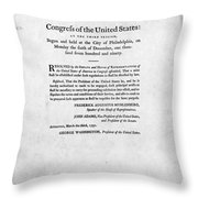 United States Mint, 1792 Throw Pillow