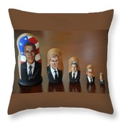 United States Presidents Throw Pillow